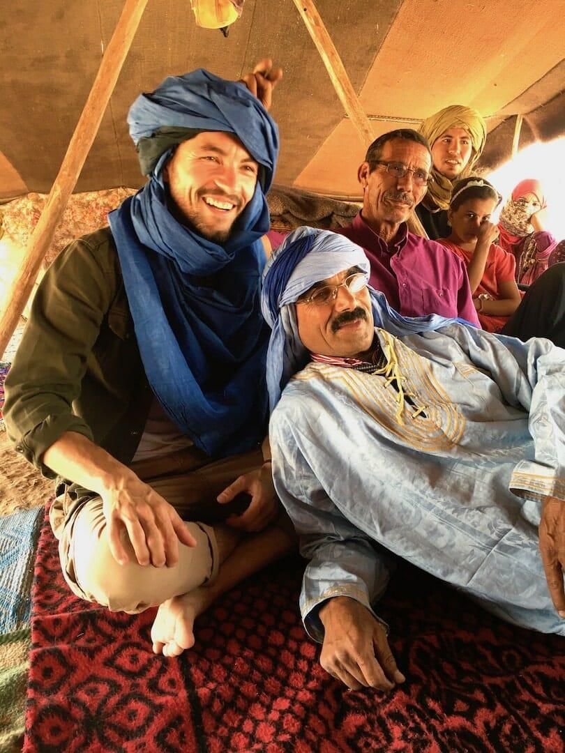 tea at berber errachidia, the desert of Morocco