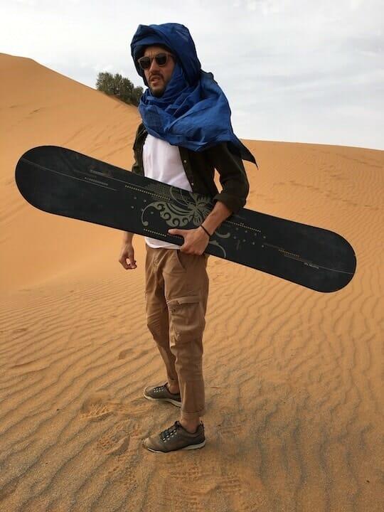 activite voyage sandboarding