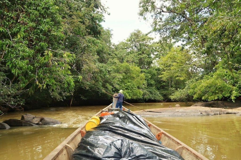 faire trajet pirogue fleuve maroni