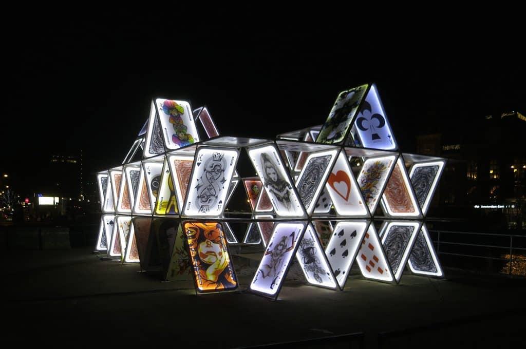 festival des lumieres amsterdam installation cartes