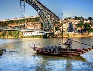 Porto vue sur le fleuve et le pont Louis Ier