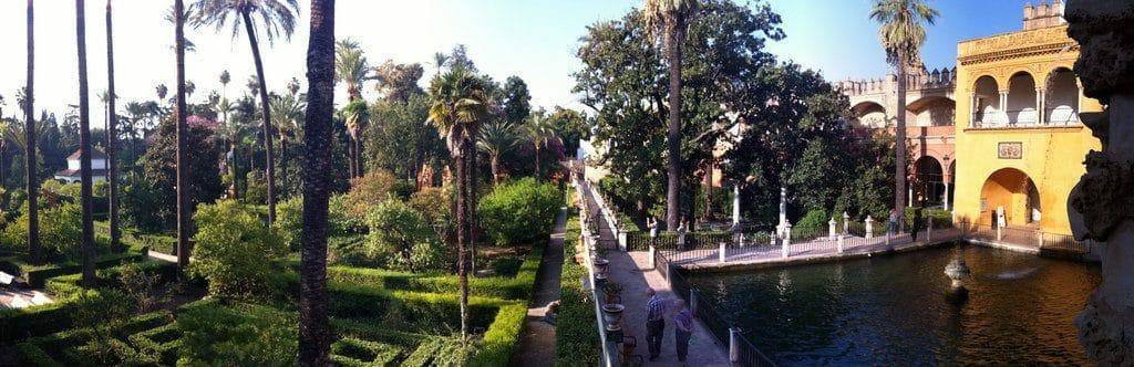 Seville L'Alcazar et ses jolis jardins