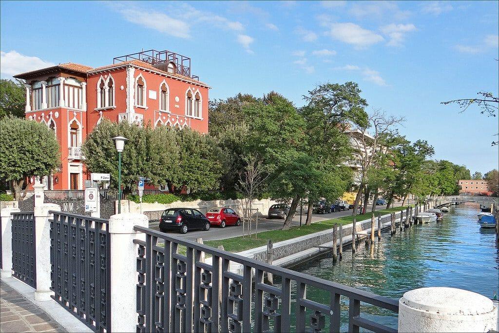 Venise le lido et la jolie villa Bianca