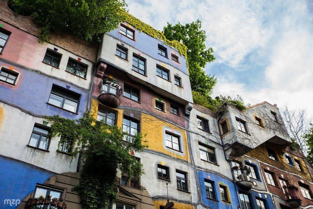 Vienne et l'immeuble HLM Hudertwasser