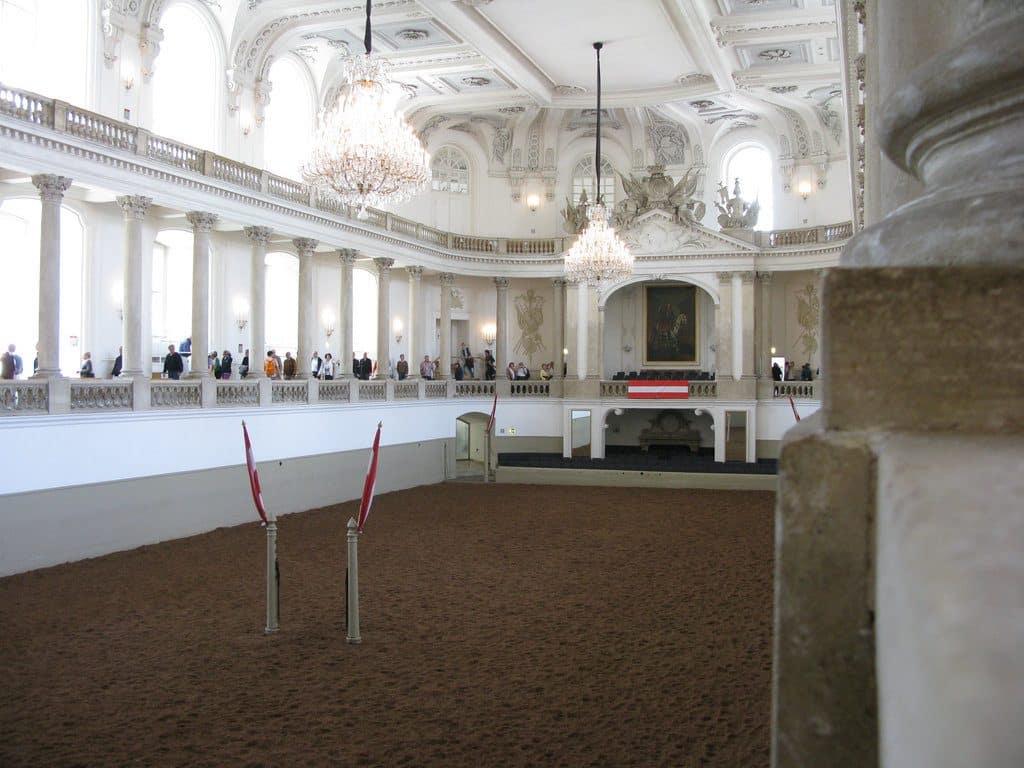 Vienne le manège espagnol d'équitation, l'école dans les écuries impériales
