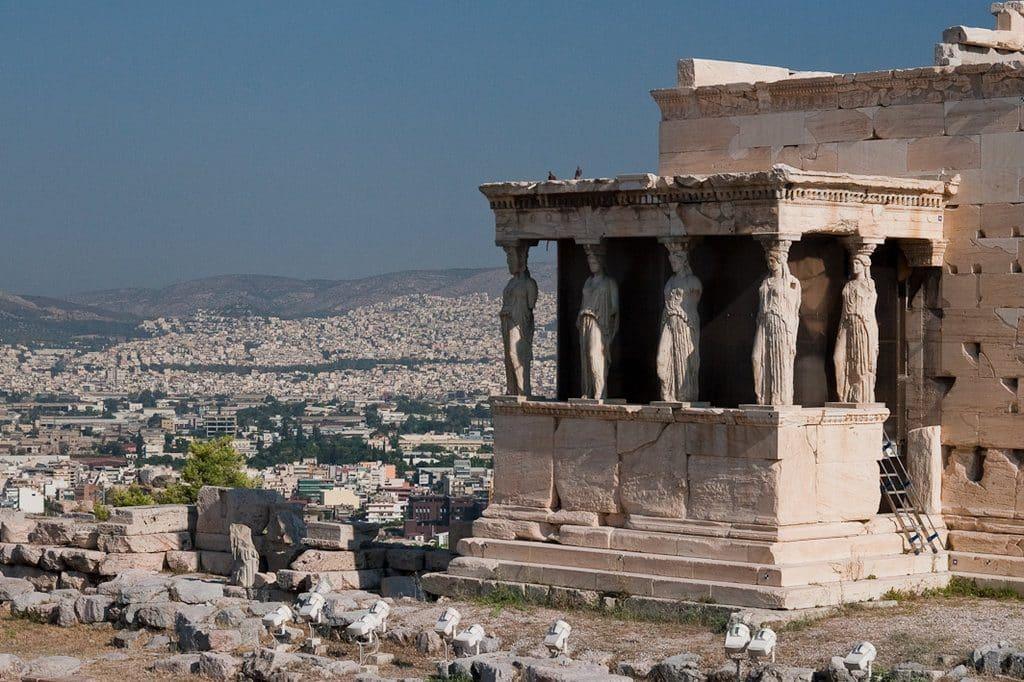 Athènes l'acropole et l'Erechtenion