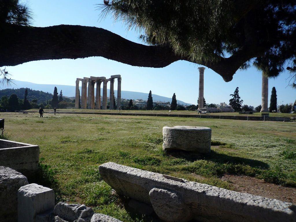 Athènes site de l'Olympieion