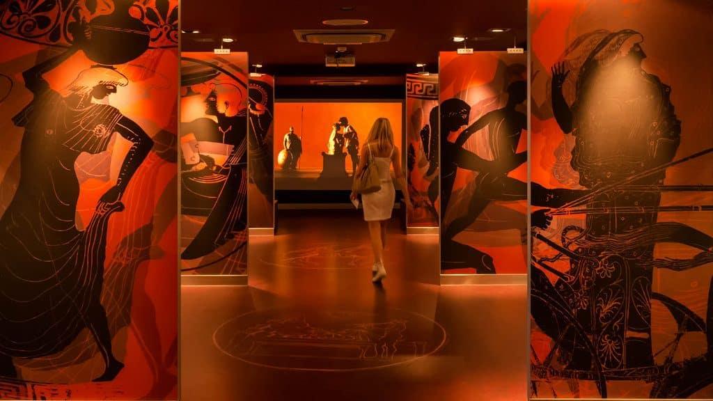 Athènes le musée d'art sur les cyclades