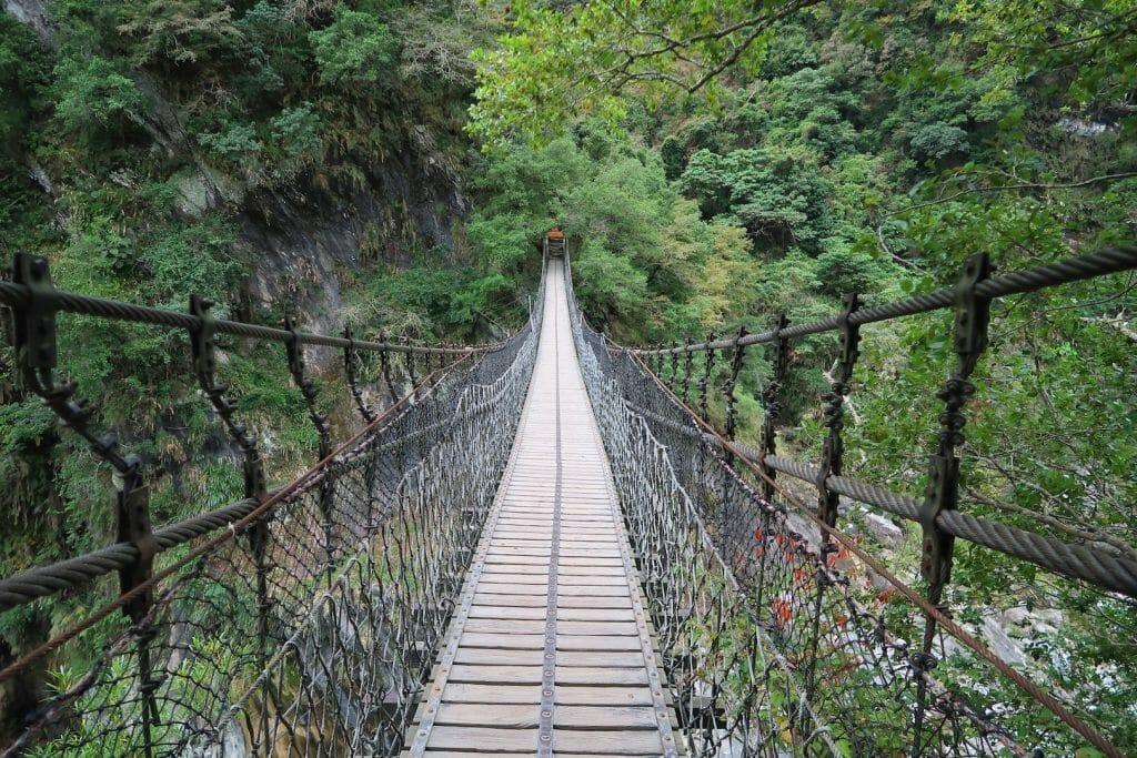 pont suspendu taroko taiwan