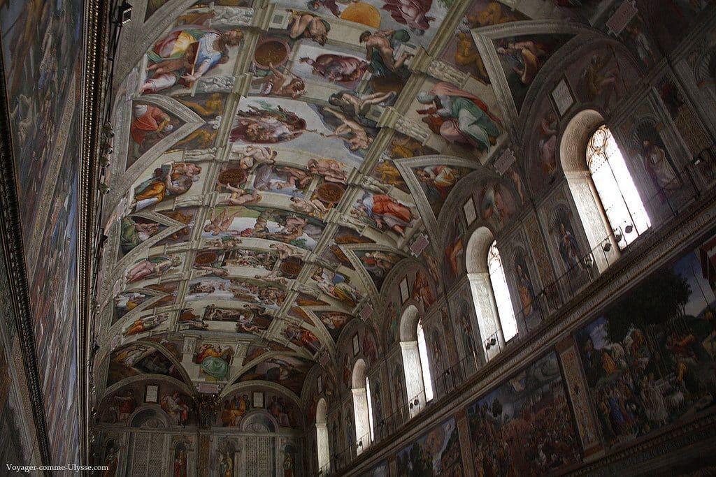 La magnifique chapelle Sixtine du Vatican
