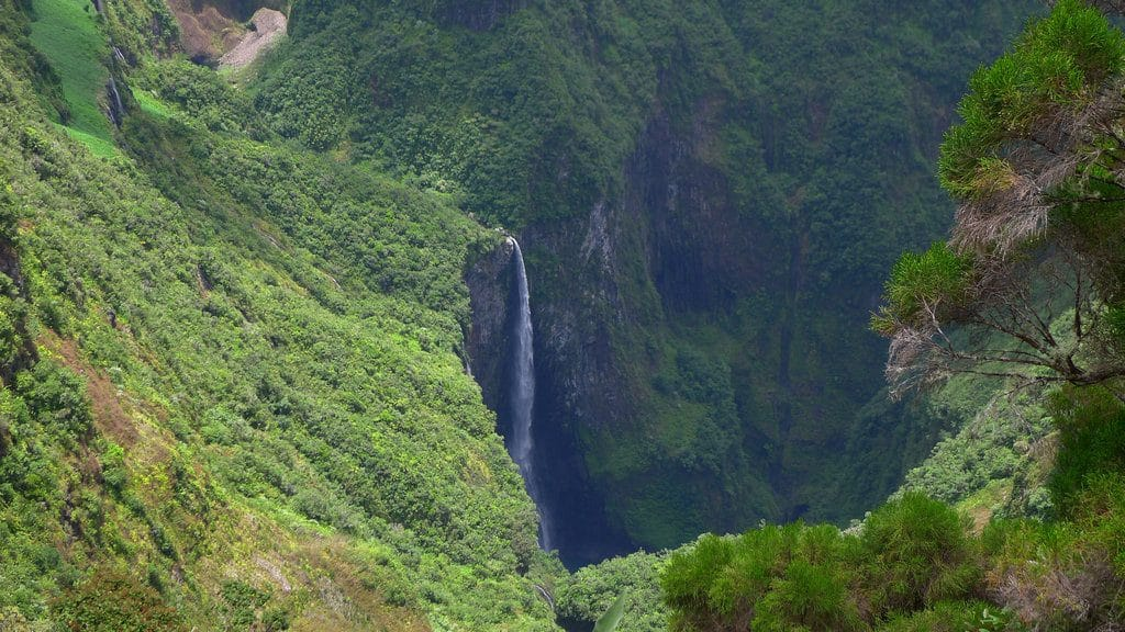 La spectaculaire cascade du Trou de Fer sur l'ile de la Réunion