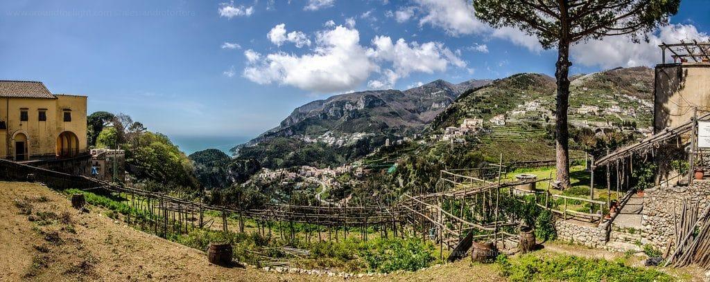 Magnifique vue de la côte amalfite