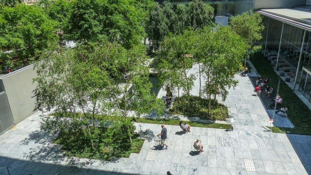 Espace vert au coeur du Musée d'Art Moderne de New York