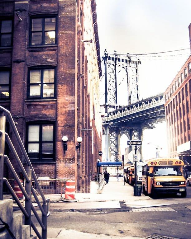 Le quartier de Brooklyn et ses maison en briques rouges