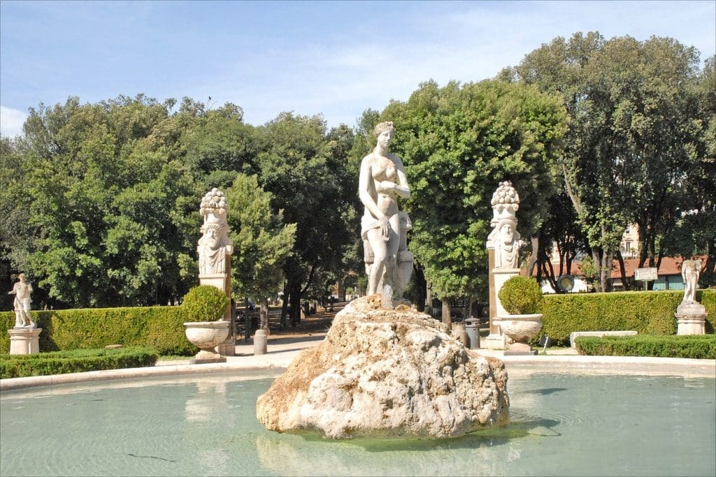 Villa Médicis et sa fontaine