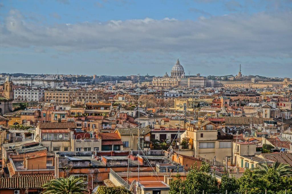 Ville de Rome depuis la colline du Pincio