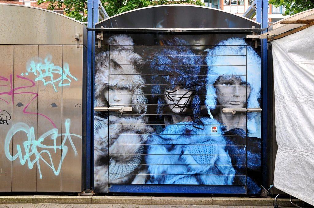 Fresque au marché aux puces de Waterlooplein
