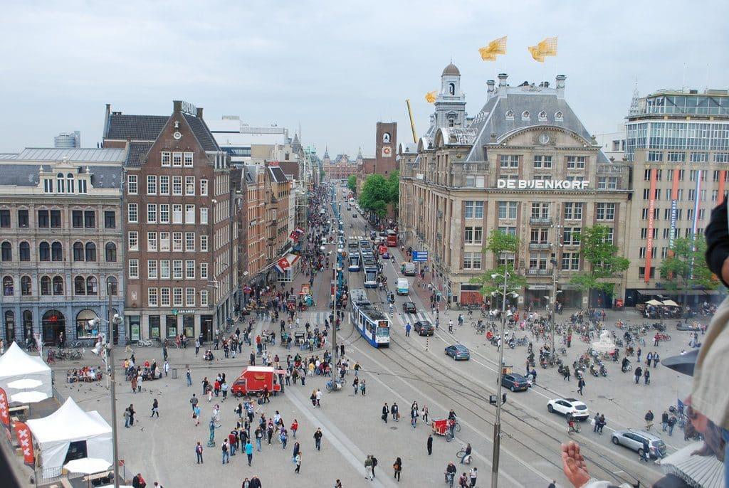 La place du Dam à Amsterdam