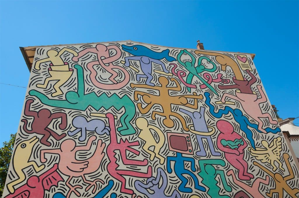 Fresque Murale Keith Haring_Pise