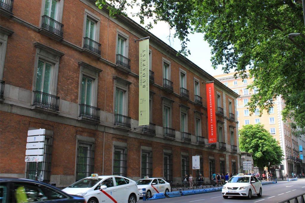 Musee Thyssen Bornemisza Madrid vue extérieure