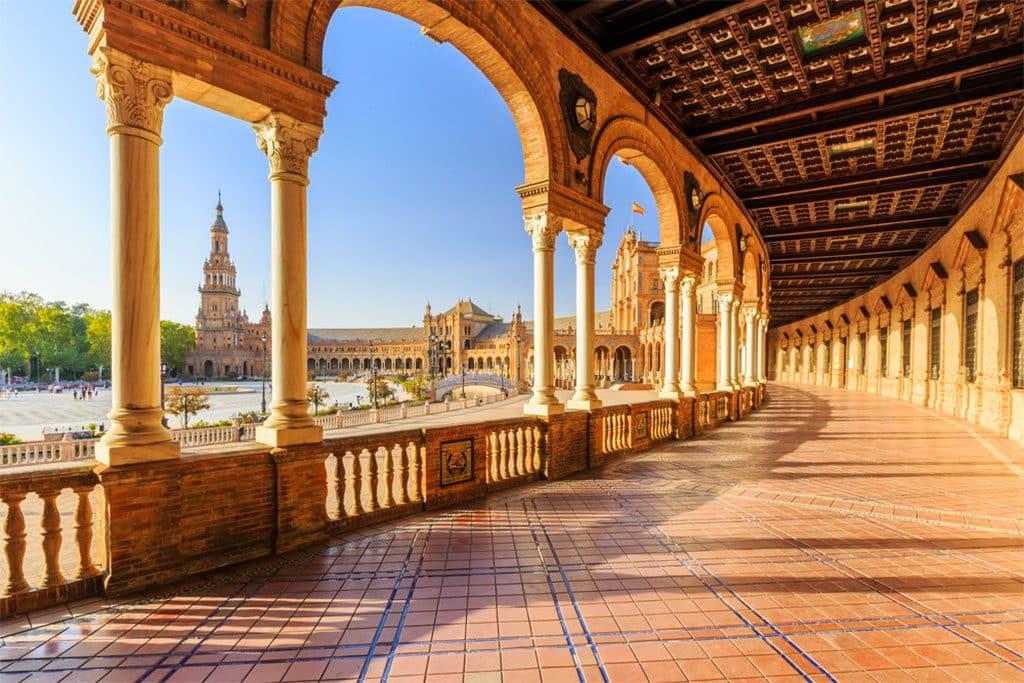 itinéraire pour visiter seville et la plaza de espana