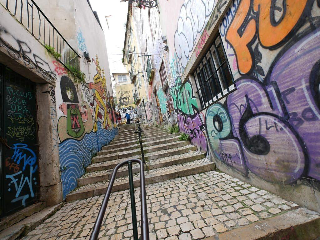 visite guidée à Lisbonne en français : street art
