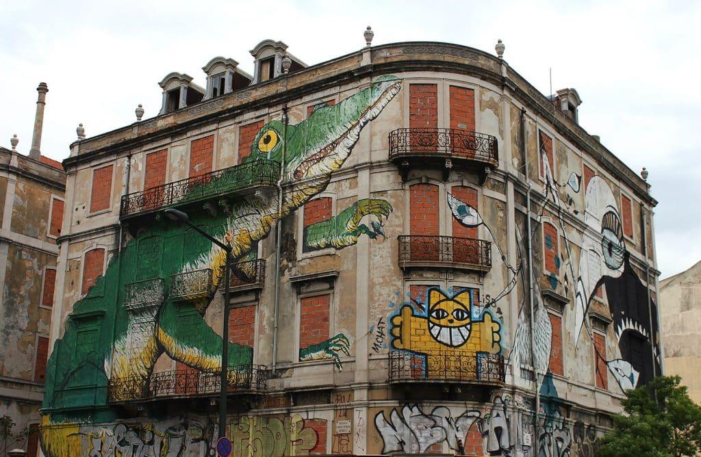 visites guidées de Lisbonne en français : street art Crono Project