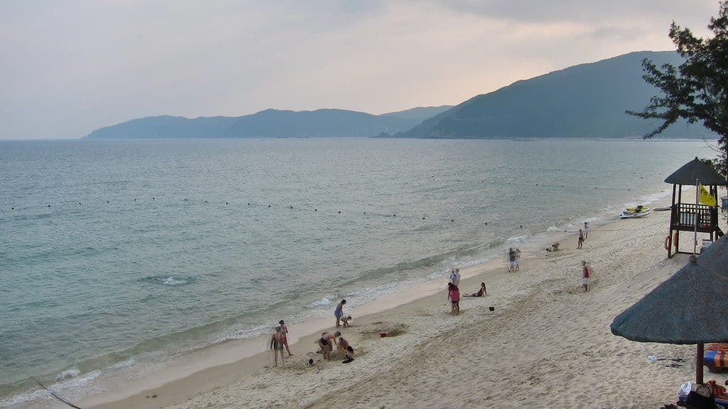 Les plages de sable fin sur l'ile d'Hainan