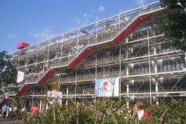 vue extérieure de Beaubourg