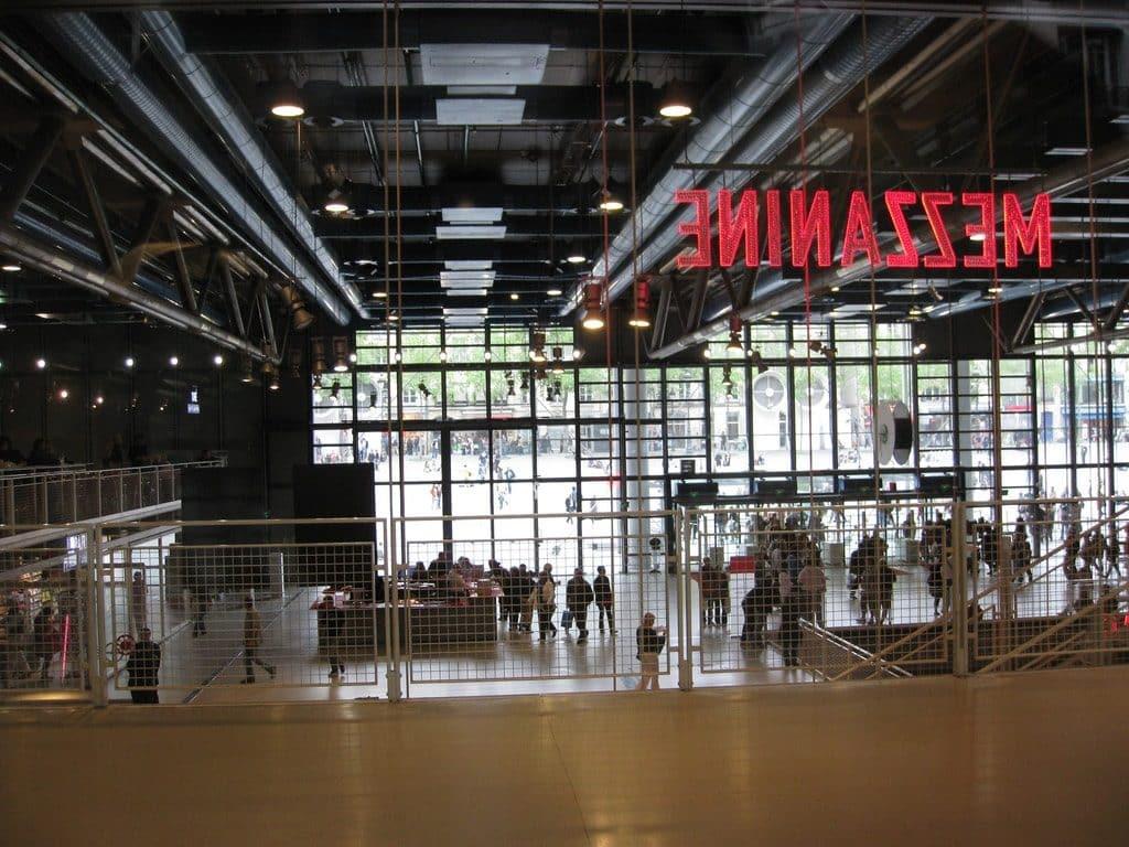 Vue intérieure Centre Pompidou