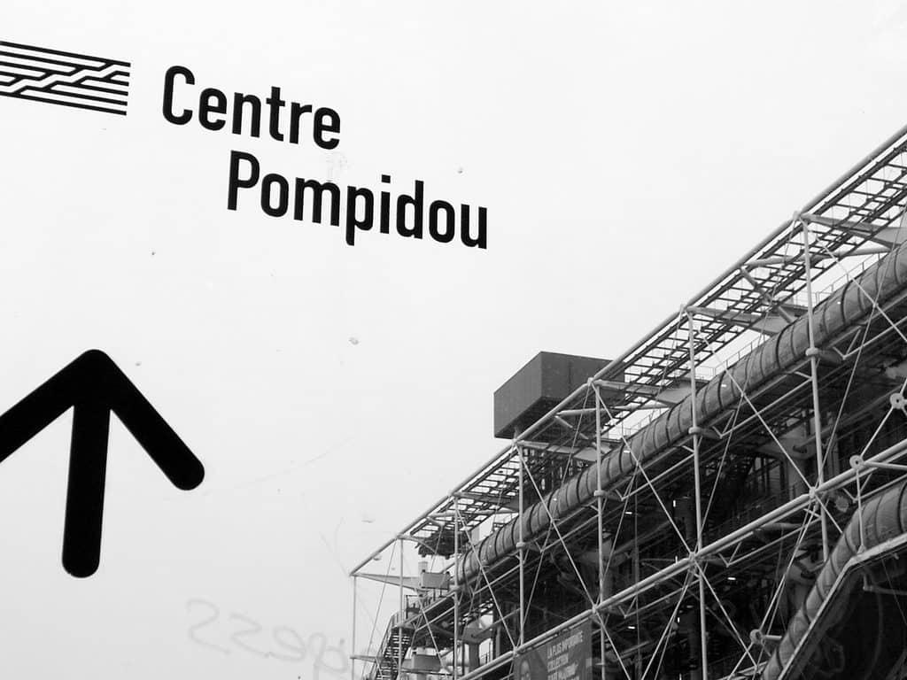 vue noir et blanc Pompidou
