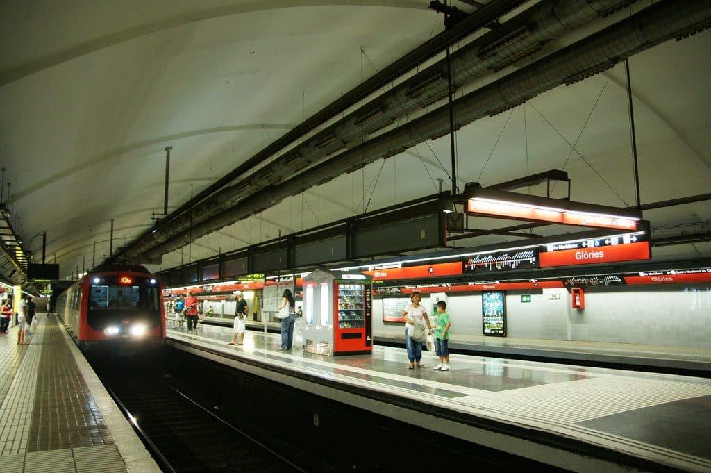 Le métro pour se rendre au centre ville de Barcelone