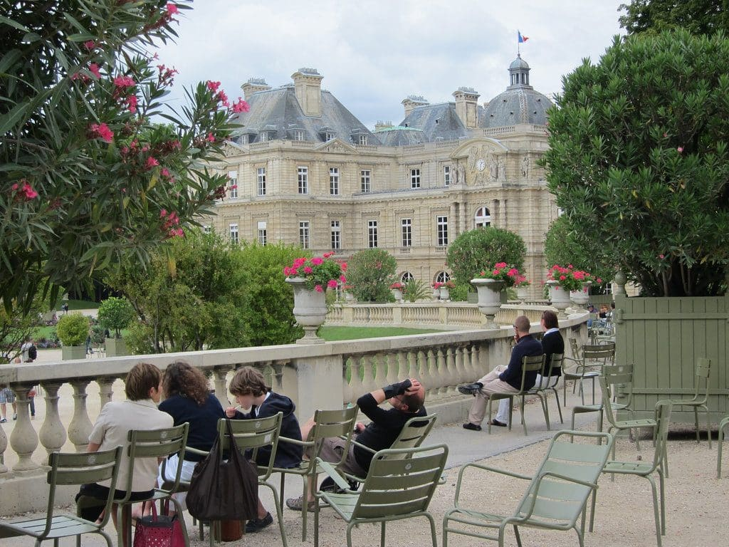 Le tranquille jardin du Luxembourg