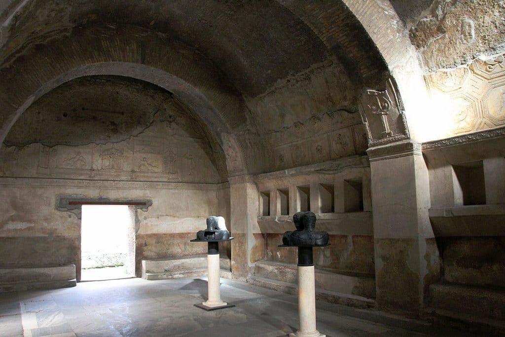 Les vestiges intactes des Thermes de Pompei