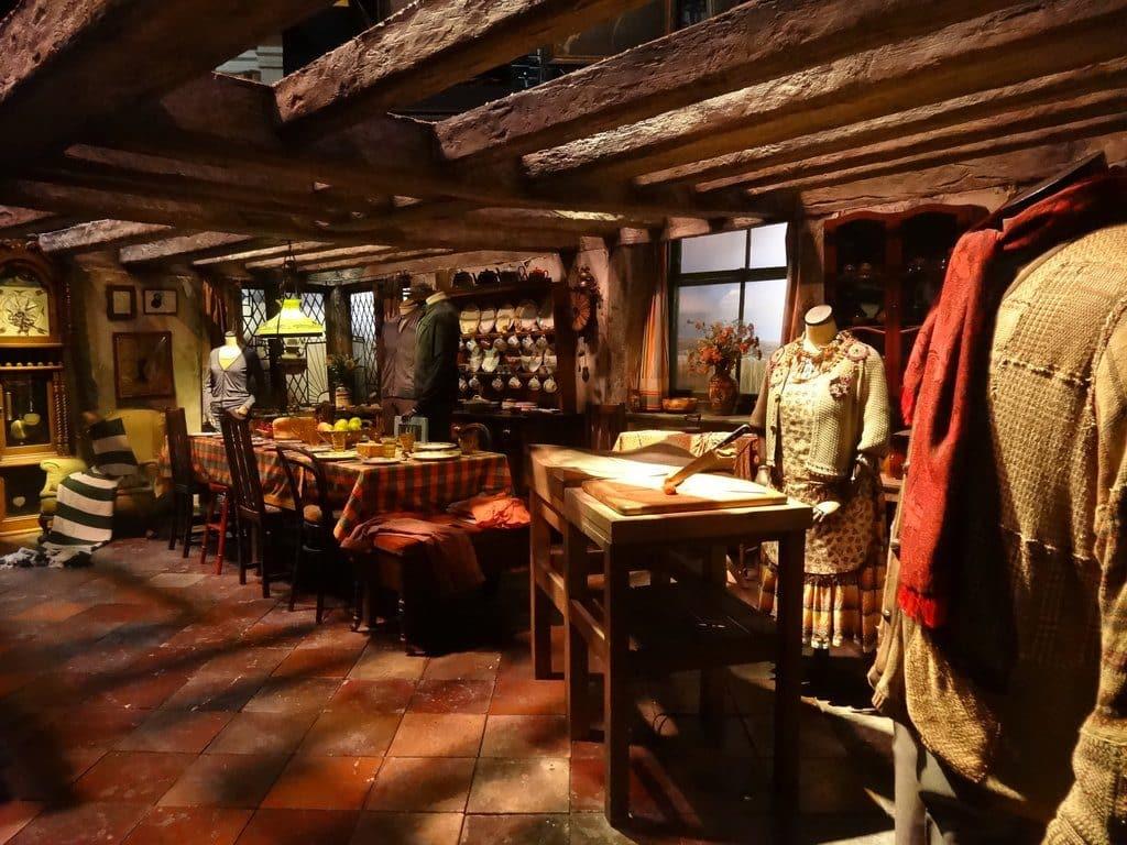 La cuisine de la maison des Weasley