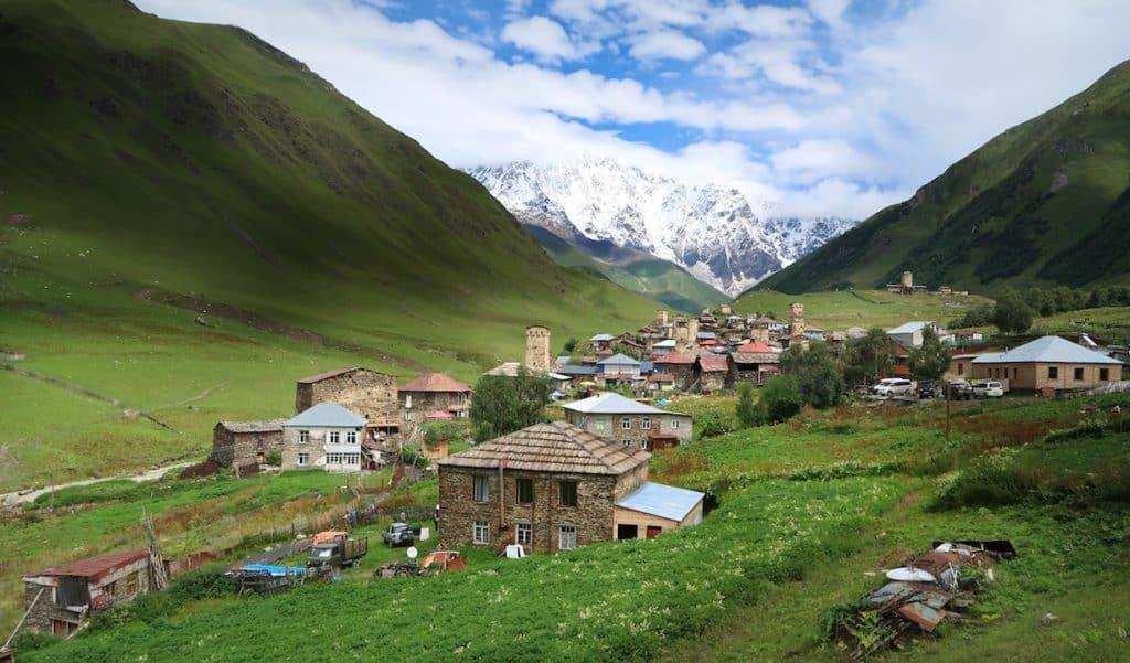 ushguli village svanetie georgie