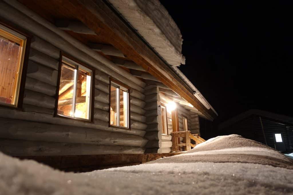 quebec en hiver Dormir dans un Chalet seul au monde