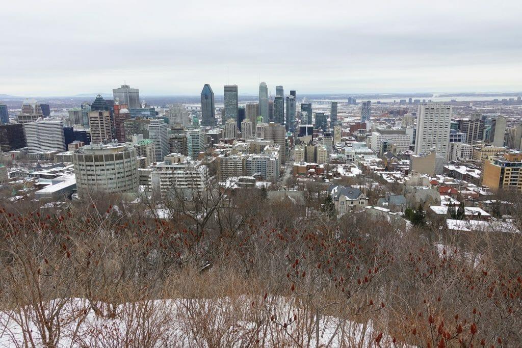 quebec en hiver Le Parc Royal à Montreal