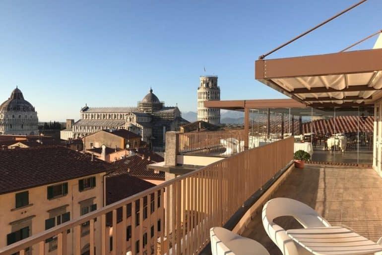 vue imprenable Hotel Pise Duomo
