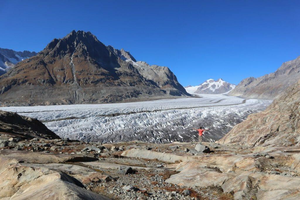 randonnee du glacier Aletsch en Suisse