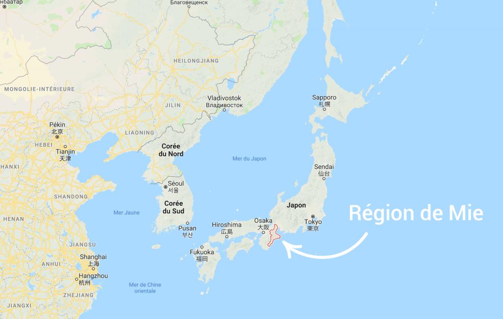Voyage au Japon carte région Mie