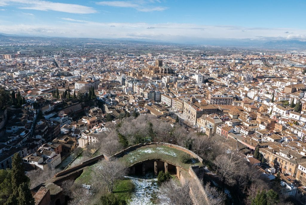 alhambra grenade vue du ciel