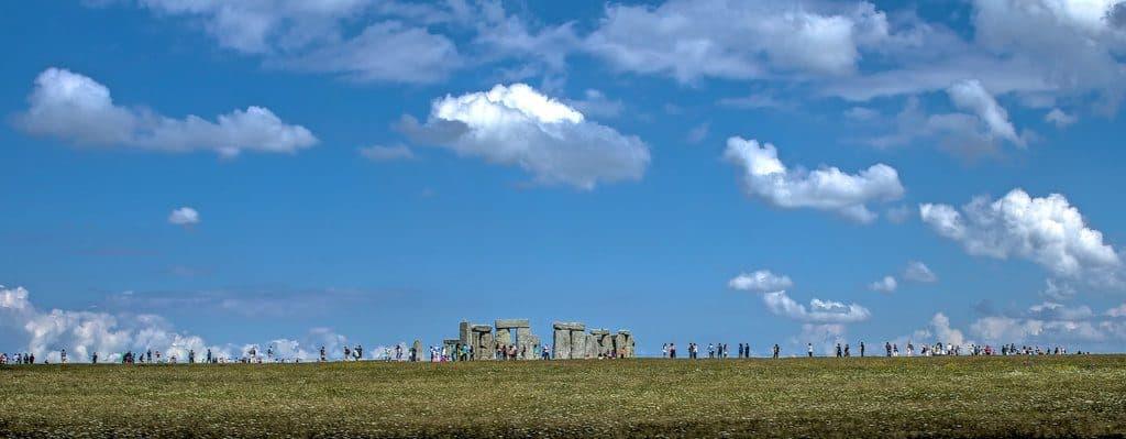 Vue sur le mystérieux site de Stonehenge