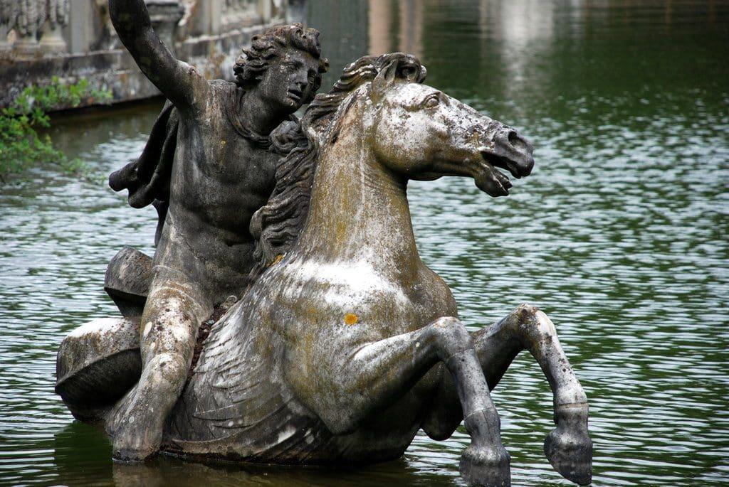 Jolie statue jardin Boboli