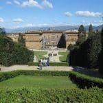 jardin boboli avec vue sur le Palais