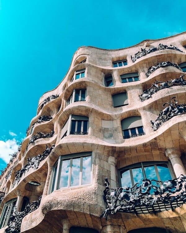 barcelone casa mila pedrera gaudi