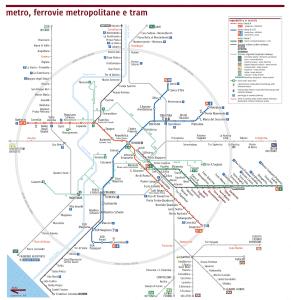 voyage à rome carte transports