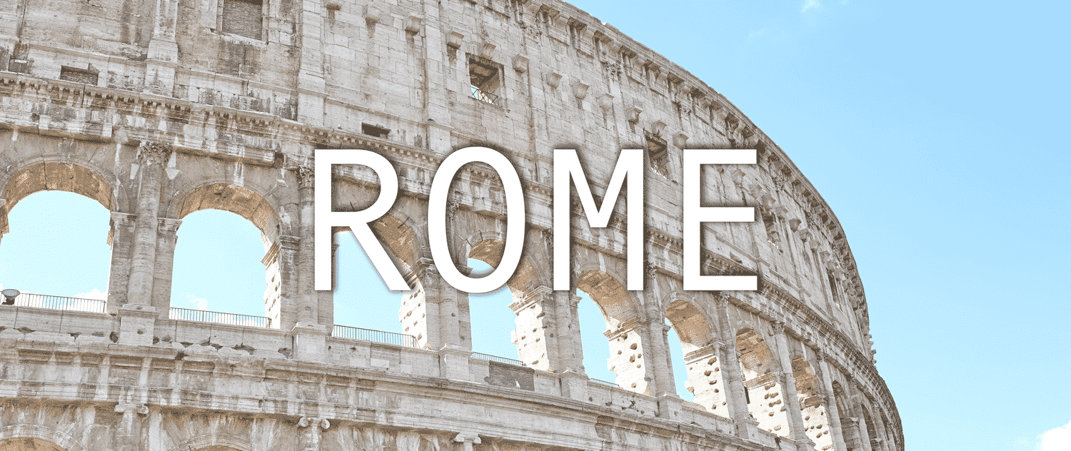 voyage a rome colisee
