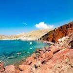 visiter santorin red beach plage