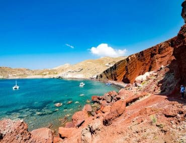 visiter santorin red beach plage